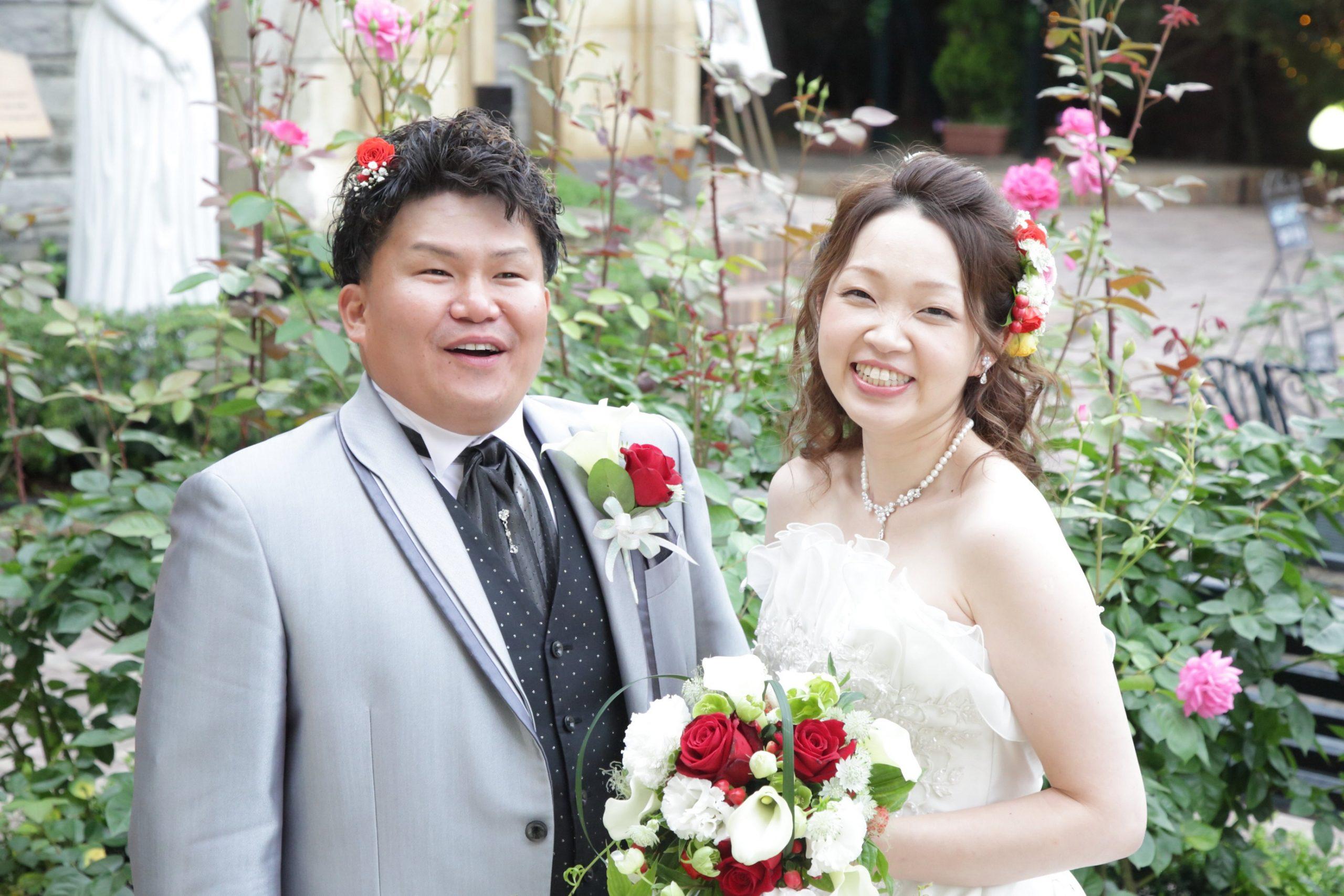 ニコニコ笑顔の結婚式(^-^)